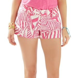 Lilly Pulitzer 3 Inch The Walsh Pink Print Shorts